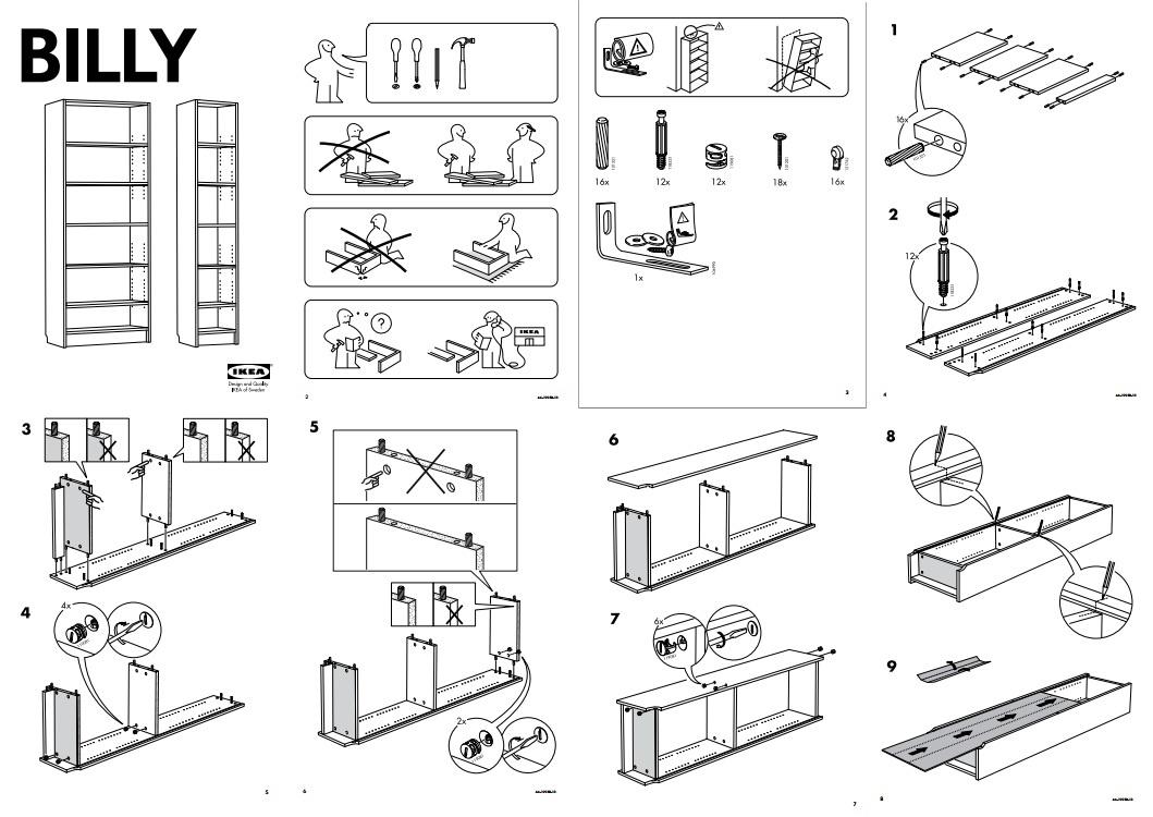 Ikea bookcase instructions
