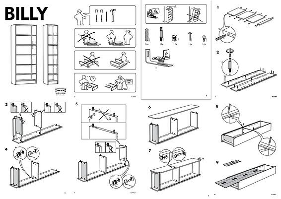 Ikea bookcase instructions